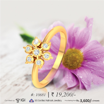 18KT Real Diamond Wow Rings For Women