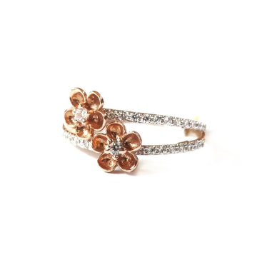18K Rose Gold Flower Shape Ring MGA - RGR0032