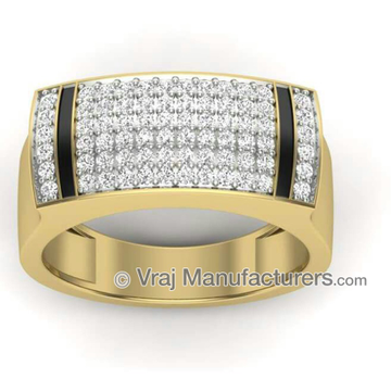 18K Yellow Gold Casting Fancy Diamond Ring For Men