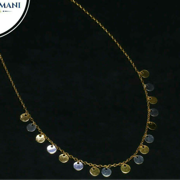 Fancy plain Nice chain tanmaniya 18kt