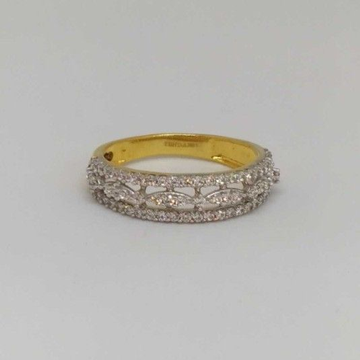 18 Kt Gold Ladies Branded Ring by