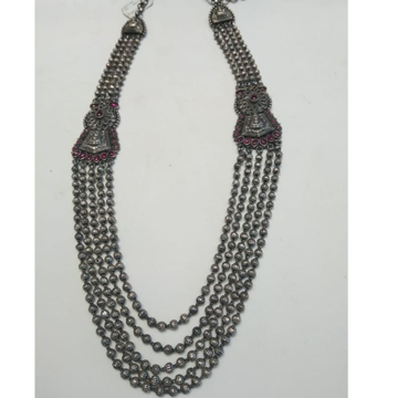 92.5 Silver Long Necklace  by