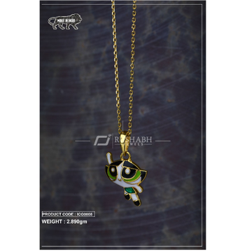 18 carat gold Kids chain pendent icg0008 by