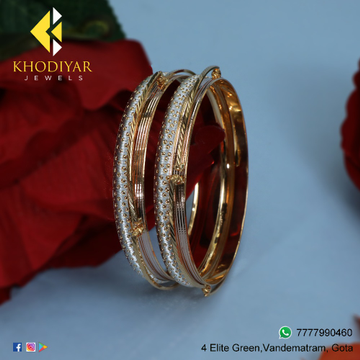 916 Gold Fancy Bangles For Women KJ-B004