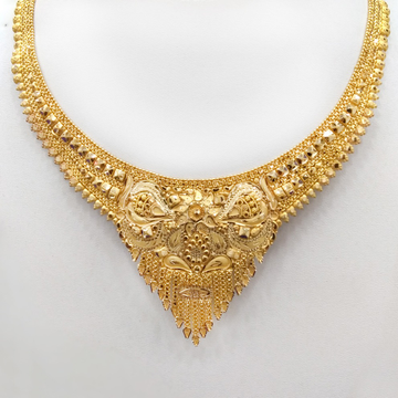 22KT Gold Traditional Necklace RJ-N010 by