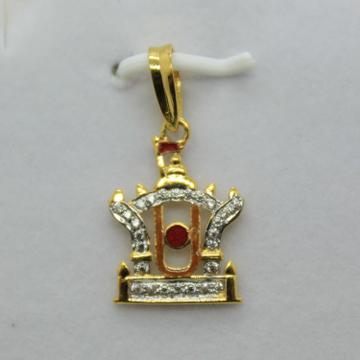 22k/916 cz God pendant