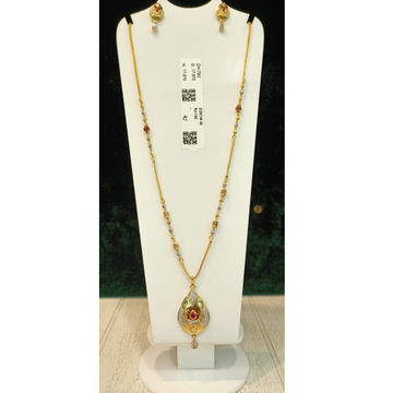 22KT Gold Hallmark Dokiya Pendant Set