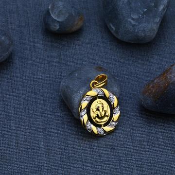 Ganpati Bappa Gold 916 Pendant-GP56