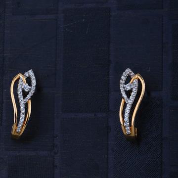 916 Gold CZ Elegant Design Earring