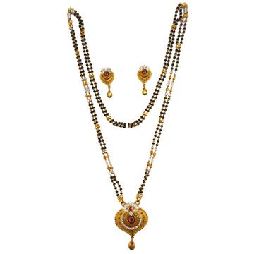 One gram gold forming designer mangalsutra mga - mse0118