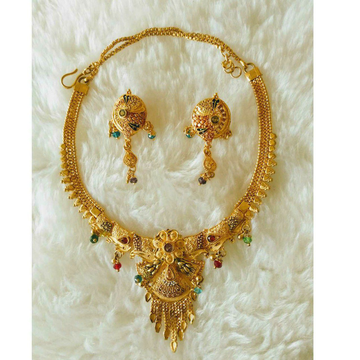 Gold Necklace Setii Butti Antique Piece by