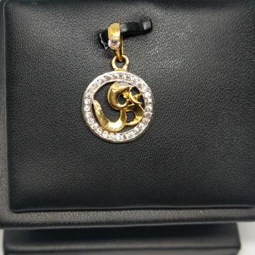 18KT gold cz fancy pendant dj-p004 by