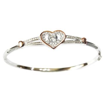 925 Sterling Silver Heart Shape Bracelet MGA - SB0013