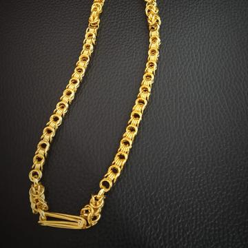 916 Hallmark Gold Unique Design Chain by Pratima Jewellers