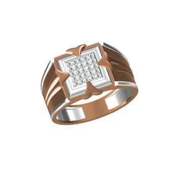 18Kt Rose Gold Fashionable Men's Ring-31312
