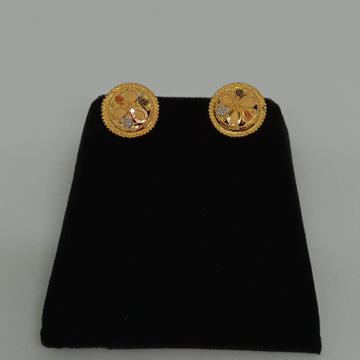 22KT Plain Gold Handmade Round Earring MJ-E010