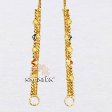 Light Weight Gold Earchain Kanser SK - K016