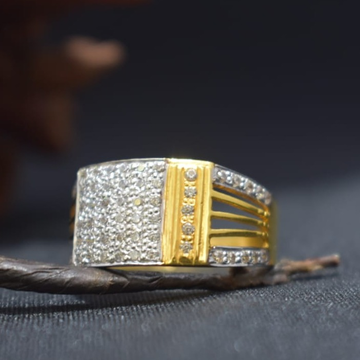 22KT Gold CZ Stylish Ring For Men MK-R20  by