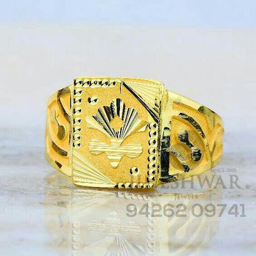 Fancy Plain Gold Gents Ring