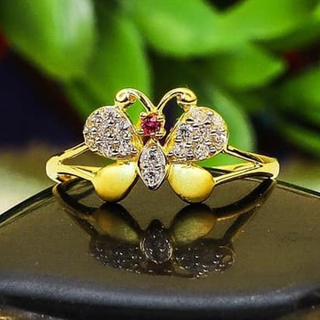 916 gold Butterfly ladies Ring LR-0032