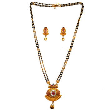 1 gram gold forming fancy mangalsutra mga - mse0134