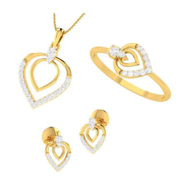 22KT Yellow Gold Entwined in Love Combo Set For women