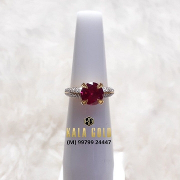 916 Red Stone Fancy Ladies Ring