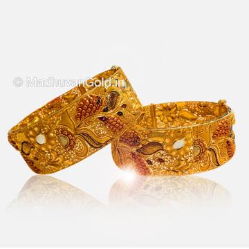 22K Gold Designer Bangles (Kada)