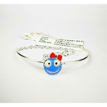 825 Silver Baby Bracelet With Smiley Emoji