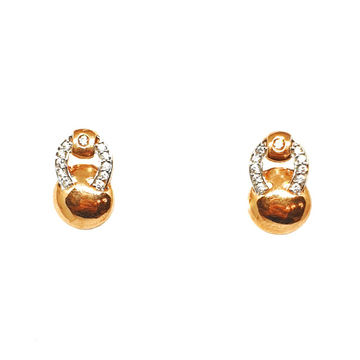 18K Rose Gold Modern Earrings MGA - BTG0327