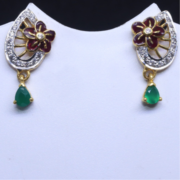 22KT / 916 Gold Flower Shape Fancy CZ Earring for ladies BTG0117