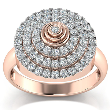 Real Diamond Rose Gold Ring