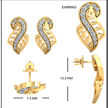 22Kt Yellow Gold Jael Earrings For Women