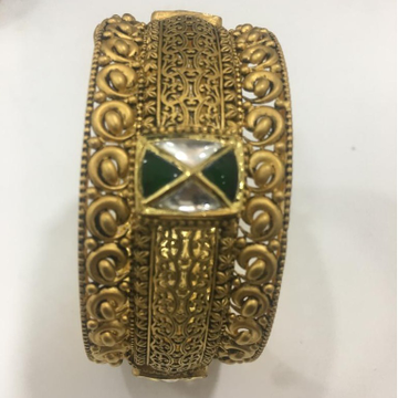 22KT Gold Antique Jadtar Kada For Bridal KV-B002