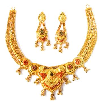 1 gram gold forming necklace set mga - gfn001