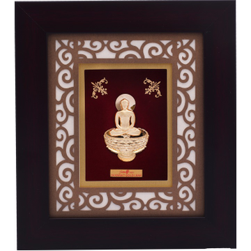 22Kt Gold Mahavirji Photo Frame AJ-12