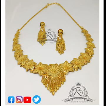 22 carat gold manufacturer antique ladies necklace set RH-lN285