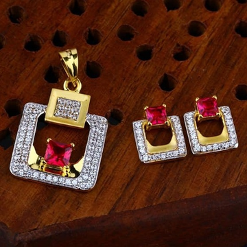916 gold cz Pendant Set ps-0005