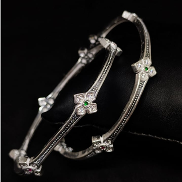silver designer ladies bangles RH-LB413
