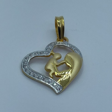 22k/916 fancy mother child pendant by Shree Sumangal Jewellers