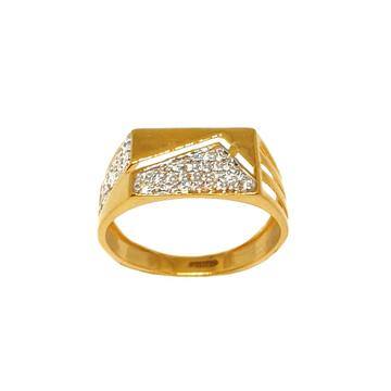 22K Gold Fancy Gents Ring MGA - GRG0210