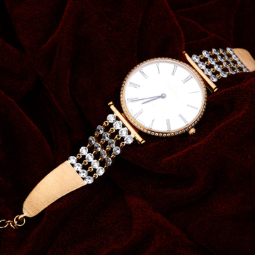 Rose Gold Ladies 18K Diamond Watch-RLW87