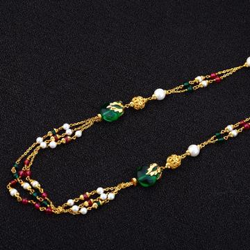 Ladies Colourfull Stone 916 Gold Moti ChainMala-AC150