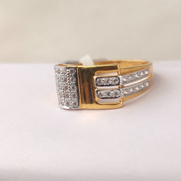 916 gold gents cz ring by