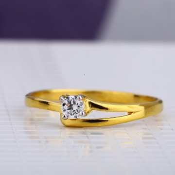 22 carat gold ladies fancy single stone rings RH-LR626