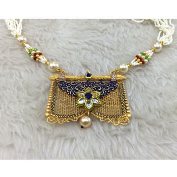 22KT Gold Antique Wedding Necklace RH-N002