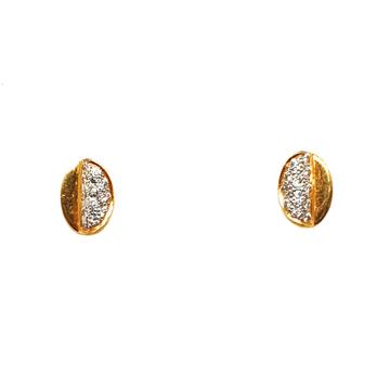 22K Gold Oval Shaped Fancy Earrings MGA - BTG0374