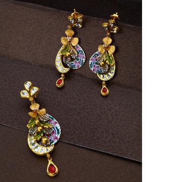 916 Gold Hallmark Flower Design Hallmark Pendant Set