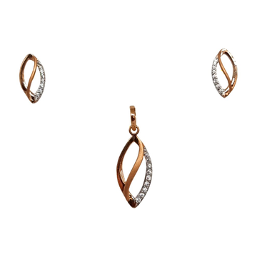 18K Rose Gold Fancy Pendant Set MGA - PTG0156