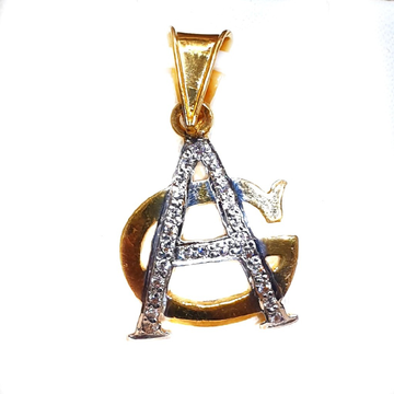 916 Gold CZ Diamond AG Later Monogram Pendant MGA - MGP016